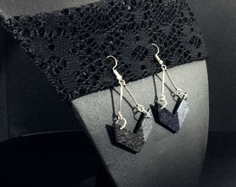 Gunmetal and black earrings