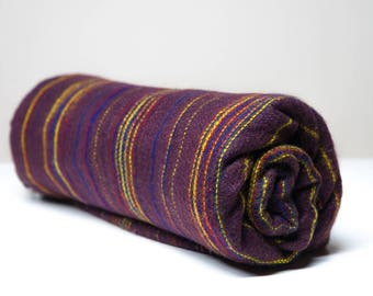 Yak wool blanket/shawl PLUM
