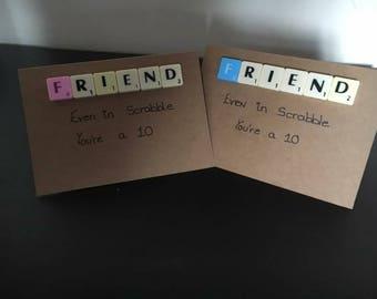 Friends Scrabble card