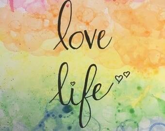 Love Life Bubble Art