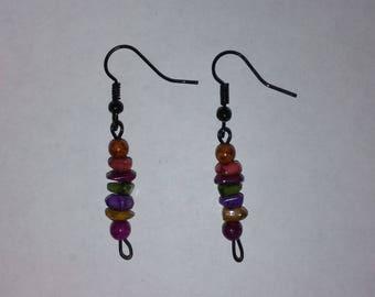 Multi Color Bead Earrings