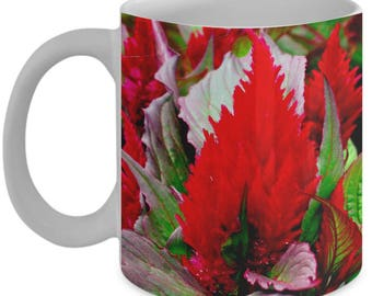 Fiery RED FLOWER Coffee Mug