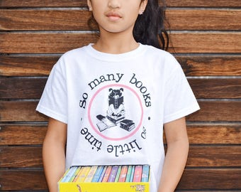 Girls tshirt I Mary Jane reading tee I Bookworm I Booklover I Girls clothing I Children's clothing I Kids tees I Back to school I Girls top