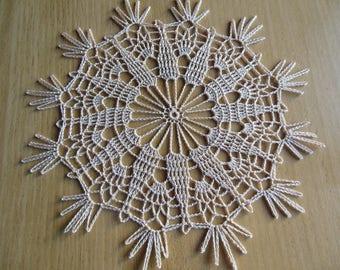 """Buglose"" round crochet doily"
