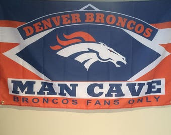 Denver Broncos Man Cave Wall Flag