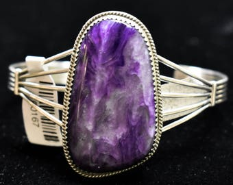 Sterling Silver Bracelet W/ Charoite