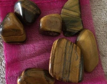 Tigers Eye gemstone/healing crystal tumbled