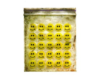 Smiley Face Baggie Print