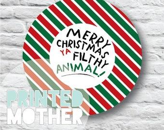 Filthy Animal Holiday Gift Tag Printable (Home Alone)