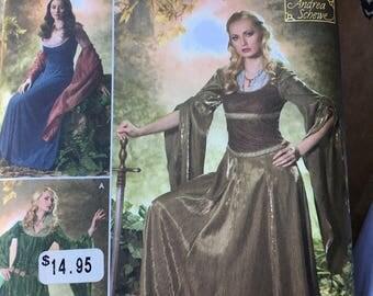Medieval dress pattern size 10 - 18