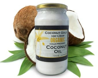 100% Certified Organic Raw Coconut Oil 1 Liter