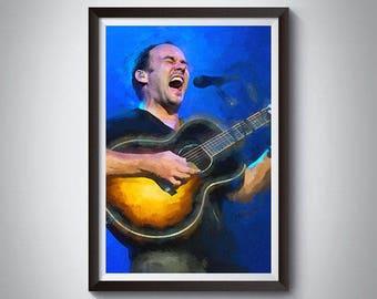 Dave Matthews Band Inspired Art Poster Print, Dave Matthews, Dave Matthews Band Poster