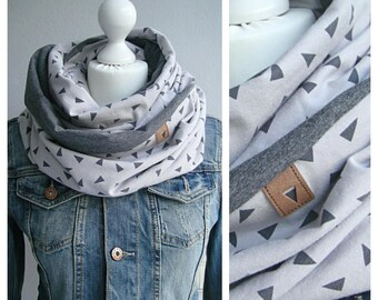 Loop, Snood, taupengrau, grey triangle
