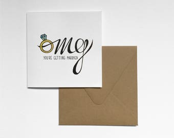 OMG Engagement Card
