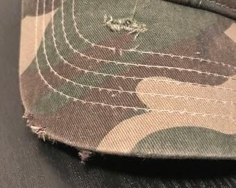 Custom Distressed Camo Hat