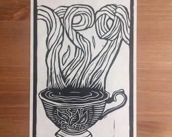 Tea | Linocut Print