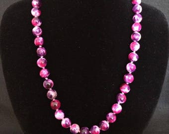 Fuchsia Jade necklace