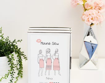 Nina skirt sewing pattern
