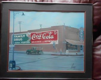 "RARE Coca-Cola 24"" X 21 1/4"" SIGNED ""C.W SAVAGE"",Large collectible,Vintage Piece"