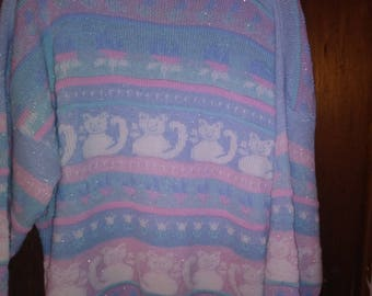 1980 Pastel Glitter sweater