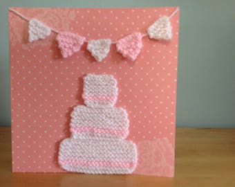 Knitted wedding cards