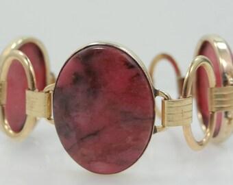 Nice Natural Agate Gold Filled Bracelet