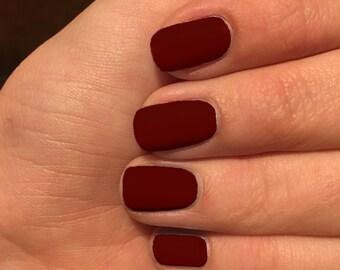 Nail wraps, Brick red nail wraps, custom colored nails, nail polish wraps, dark red nail wraps, red nail wraps, brick red nail wraps