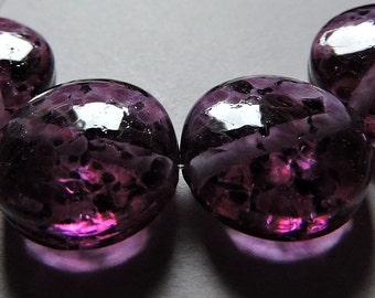 Handmade Glass Purple Lampwork Beads Ericabeads Grapes Galore Spree (4)