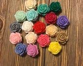 Rosebud Cabochons - Lot of 17