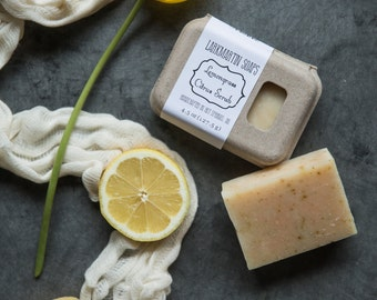 Lemongrass Citrus Scrub Soap by Larkmartin Soaps