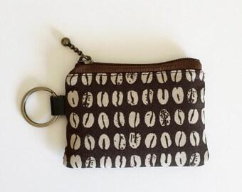 Key/coin purse - coffee beans