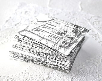 Handmade Envelopes, Gift Card Sleeves, Structure Building illustrations