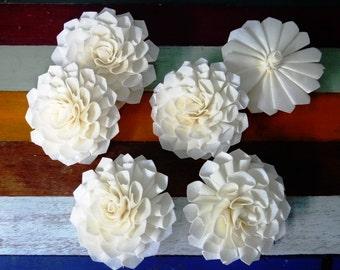 6 Dahlias Sola Wood Diffuser Flowers 10 cm Dia.