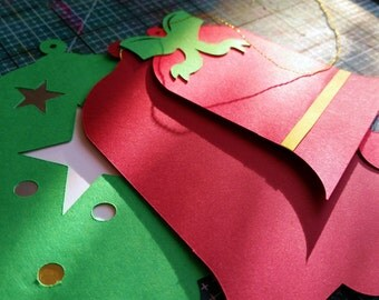 Bells digital die cut, SVG cutting file, clip art, Pazzles Cricut Christmas ornament SVG cuttable file, PDF Stencil, Instant Download