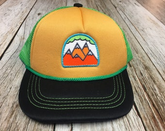 "Toddler Trucker Hat with ""5 Peak Mountain"" Patch-6 Months to 2 Years Old"