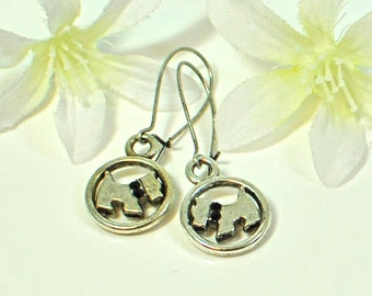 Scottie Dog Earrings Fritz and Smidge - Scottie Jewelry - Scottish Terrier - Dog Lovers Gift - Scottish Terrier Earrings - Animal Jewelry
