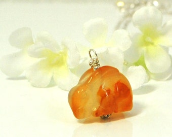 Carnelian Bunny Rabbit Necklace Carney- Rabbit Pendant - Bunny Jewelry - Bunny Necklace - Rabbit Jewelry - Pet Bunny Rabbit -Gemstone Animal