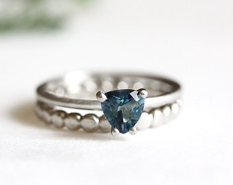 palladium london blue topaz ring, handcrafted, eco friendly