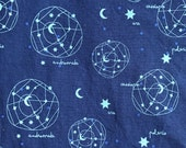 Weighted Blanket - Adult or Child - Constellations Space Stars - Choose your weight (up to 15 lbs) and minky color - custom