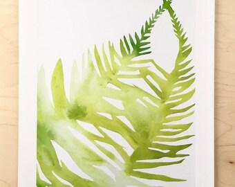 NEW // Fern Shadow Print // Modern Decor // Garden Lovers // Plant Paintings // Modern Watercolor // Modern Abstract // Modern Print