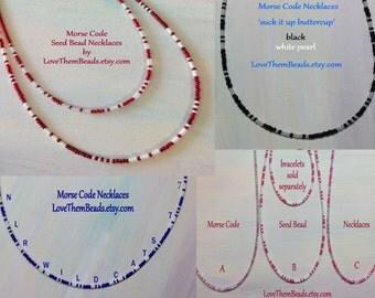 morse code necklace, best friend gift, personalized morse code jewelry, custom morse code necklace, BFF, bestie jewelry by LoveThemBeads