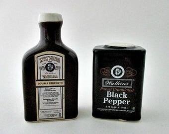 Watkins Vintage Salt and Pepper Shakers