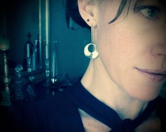 sibyl ... mixed metal earrings