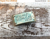 50% OFF SALE- Stamped Leather Cuff-Pottery Bead Collection-Art Quote-Word Cuff-Not All Who Wander