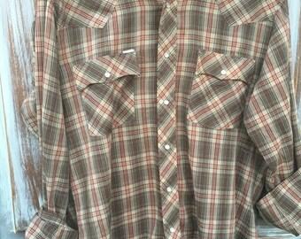 40% OFF- Vintage Western Shirt-Women- Plaid-Pearl Snaps