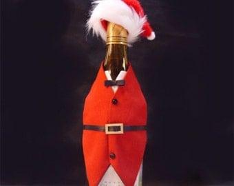 Wine Bottle Vest and Hat Fit for Santa