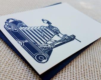 Letterpress Enclosure Card - Vintage Camera