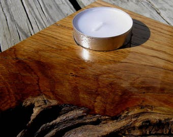 Reclaimed Oak Shipping Crate Candle Holder
