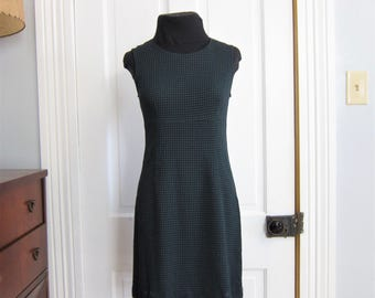 Vintage 90's Babydoll Dress Size 3 4 Small Short Dawn Joy Fashions Green Plaid USA Made Sleeveless Jumper