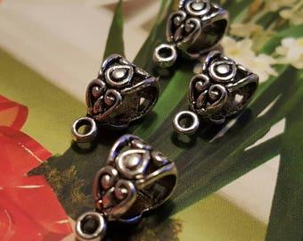 Silver Bails - 15 pc.  Tibetan Silver - Nickel Free - Lead Free - Cadmium Free